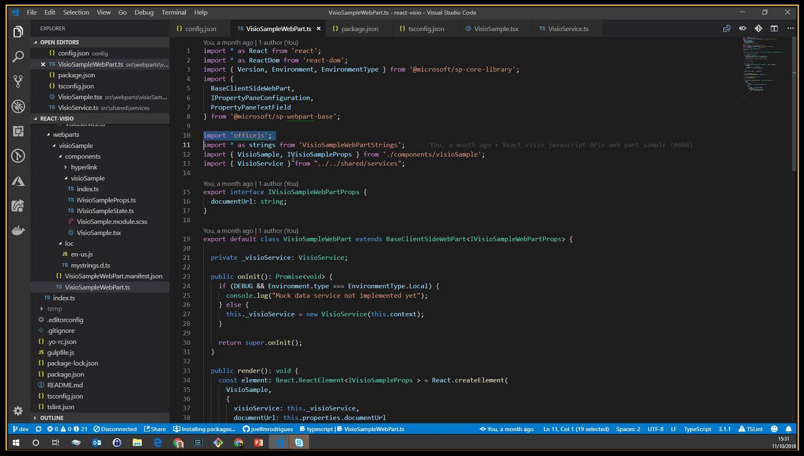 SharePoint PnP Dev SPFx JS SIG Call – Oct 11th, 2018 – Screenshot