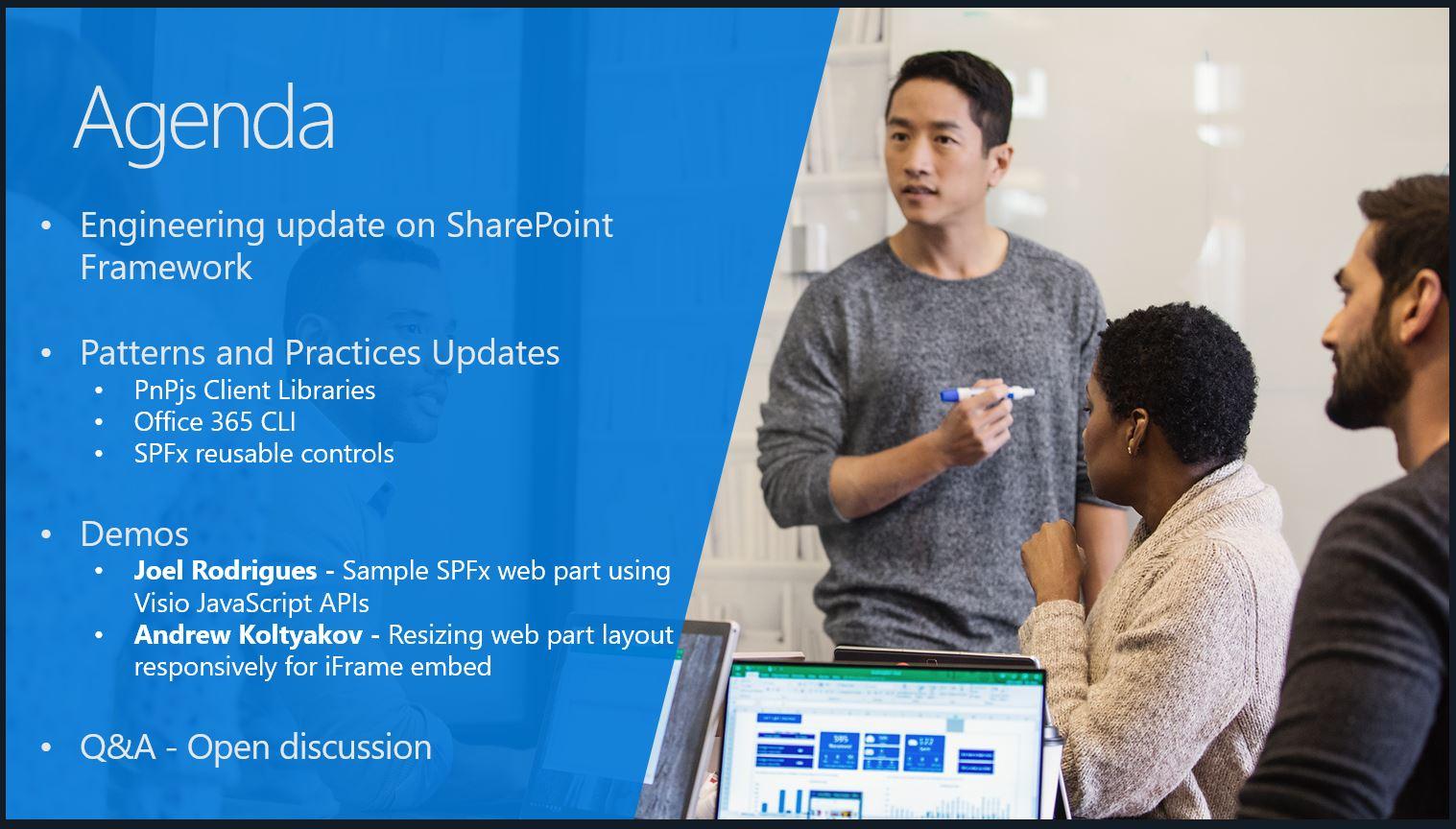 SharePoint PnP Dev SPFx JS SIG Call – Oct 11th, 2018