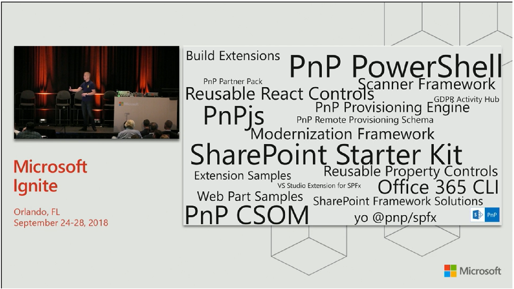 Microsoft Ignite - SharePoint PnP Updates & Screenshots