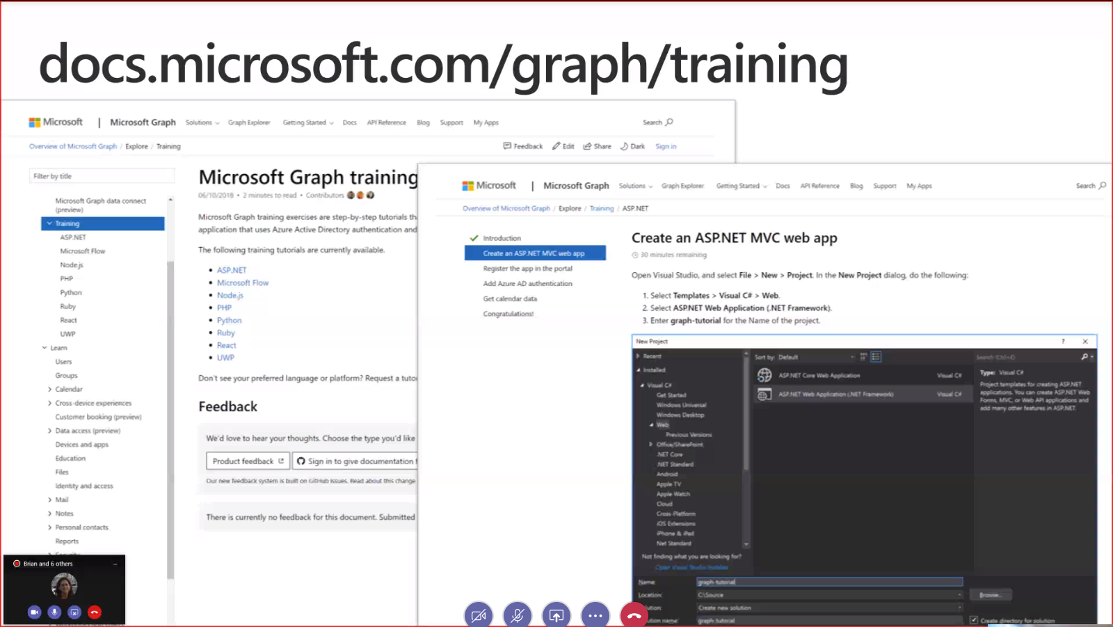 Microsoft Graph Community Call Screenshot Summary - December 4th