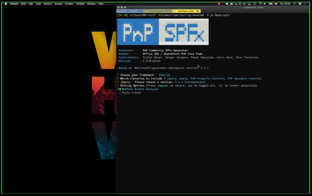 SharePoint PnP Dev SPFx JS SIG Call – Jan 17th, 2019 – Screenshot