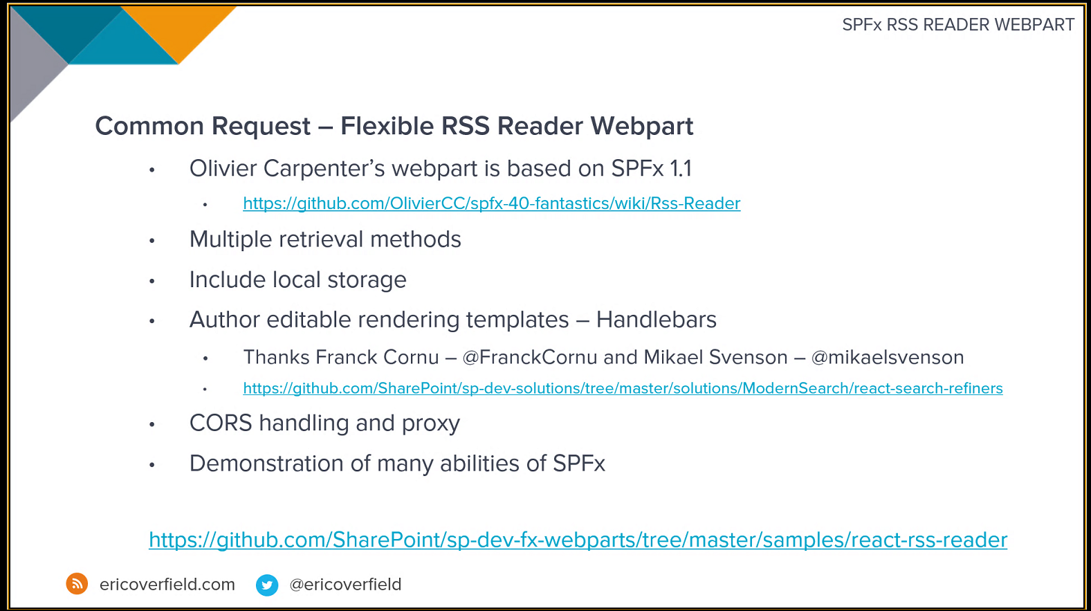 SharePoint PnP Dev SPFx JS SIG Call – Feb 14th, 2019 – Screenshot