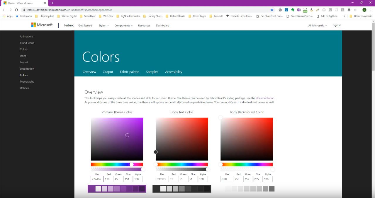 SharePoint Modern Themes - Create a Two-Tone Theme - Warner