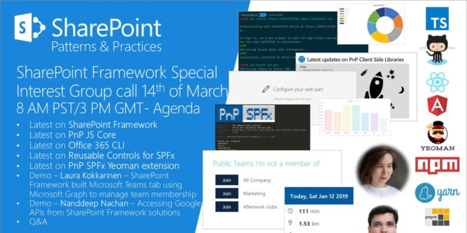 sharepoint 2019 surveys sharepoint pnp dev spfx js sig call march 14th 2019 1207