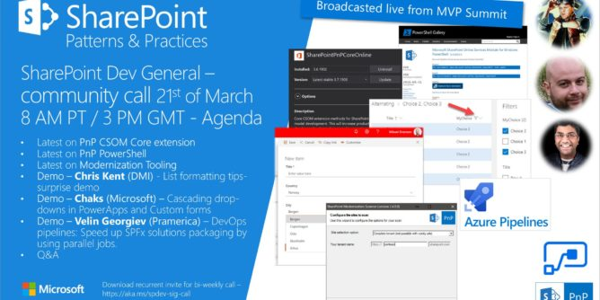 SharePoint PnP Dev General SIG Call – March 21st, 2019