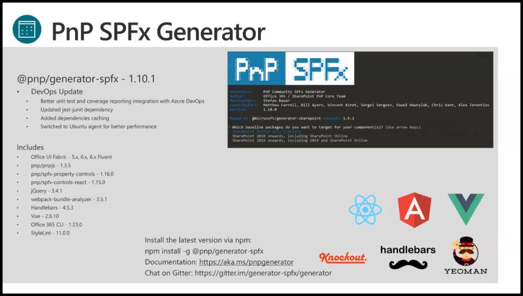 SharePoint PnP Dev SPFx JS SIG Call – November 21st, 2019